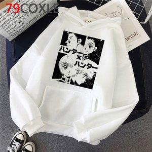 Anime Hunter x Hunter killua Streetwear Hisoka gráficos capuz Tops Unisex masculino das camisolas com capuz impresso streetwear masculino Oversized