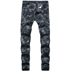 Skinny Jeans Casual Males Clothing Camouflage Print Mens Designer Jeans Fashion Hip Hop Style Mulit Pockets Mens
