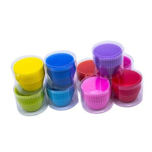 2020 hot 6pcs 12pcs 24pcs pack cupcake silicone cake mold set