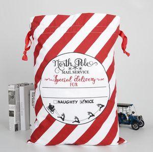 Noël Sacs cadeaux Forêt rayé imprimé cadeau bonbons Grand Sac Joyeux Noël de stockage Party Sac Oornament Supplies Sea Shipping AAF1918