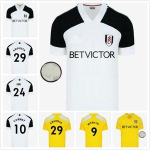 20 21 F C MITROVIC Cairney camisas de futebol liga 2020 2021 SERI I.CAVALEIRO ANGUISSA CASA branco Homens AFASTADO AMARELOS miúdos definidos camisas de futebol