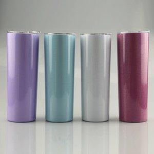 Nuovo! 20 once Arcobaleno Stampa Bottiglia di sublimazione Skinny i bicchieri con paglia doppio dell'acciaio inossidabile isolato Slim vuoto Tazze di caffè latte tazze A12