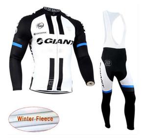 2019 NEW GIANT команда Велоспорт Зимние джерси термальной ватки (нагрудник) брюки наборы мужчин Длинные рукава велосипедов трико roupa Ciclismo lzfboss4