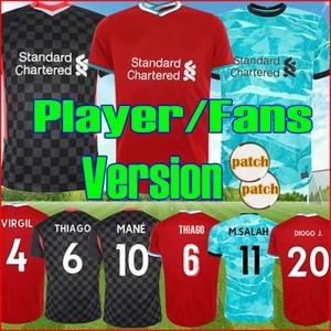 Joueur Fans version 2021 VIRGIL THIAGO DIOGO J LVP Liverpool Troisième kit haut FIRMINO 20 21 Maillot de foot Salah MANE Kit ALEXANDER-ARNOLD