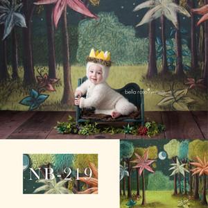 Photocall için Yenidoğan Fotoğraf Backdrop Vahşi Bir doğum günü partisi Dekor Banner Bebek Kek Smash Arkaplan