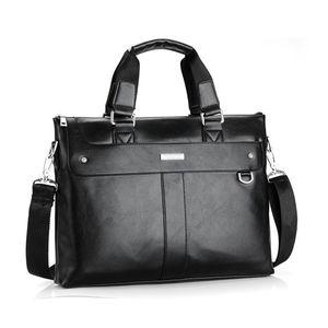 VORMOR Men Briefcase Business Shoulder Bag Leather Messenger Bags Computer Laptop Handbag Bag Men's Travel Bags 200918