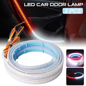 2pcs LED Light Strips 328SMD Strip Light For Car Door High Brightness Strobe Warning Door Auto Interior Lamp, 3.9ft