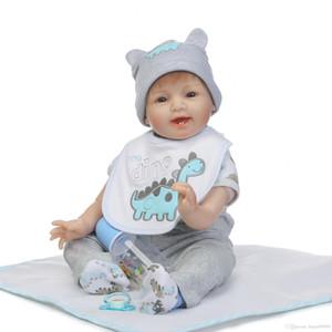 Çocuklar için hxltoystore- 22inch Silikon Reborn Doll Gerçekçi Bebek Yenidoğan 55cm Sevimli Bebek Reborn Bebekler Noel Doğum Hediye Oyuncak