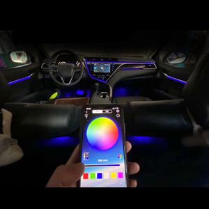 자동차 주변 무드 조명 인테리어 조명 높은 전원 RGB APP 자동 장식 문 발 대시 보드 스토리지 박스 분위기 램프 새로운