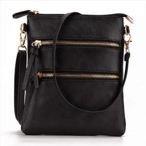 JIARUO Multi Pocket Zipper Women Small Mini Leather Messenger Bag Ladies Crossbody Shoulder Bags Satchel Handbag And Purses