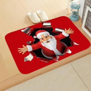 Christmas Series 40x60cm Carpet Door Mat Waterproof Santa Claus Decoration Mat Merry Christmas Home Decoration Navidad Decoration Carpet