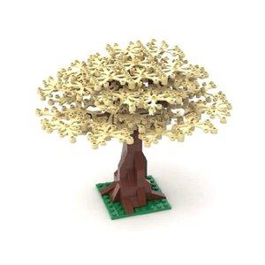 Tree City İçin Moc Çocuk Cherry Tree Büyük Yapı Taşları Çiçek Aksesuarlar Diy Bricks Bahçe Oyuncak Parçaları Seti AGKVA homebag Bitkiler