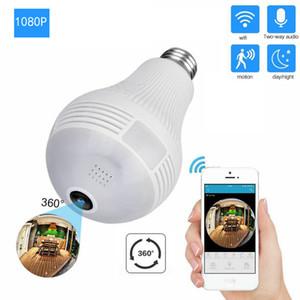 1080P HD WiFi IP Camera 360° VR Panoramic Fisheye Hidden cam Bulb Light Panoramic Home Security Security WiFi Fisheye Bulb Lamp