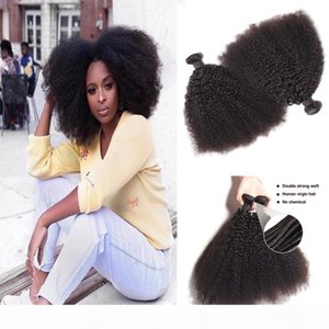 1bundle lot Mongolian Afro Kinky Curly Virgin Human Hair Unprocessed Remy Hair Weaves Double Wefts 100g Bundle Hair Wefts