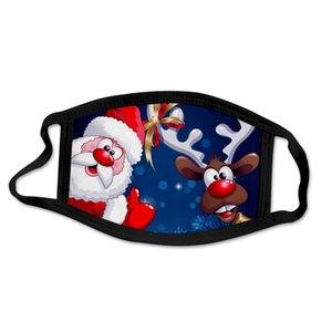 Hot Verkauf Weihnachten Halloween Thema gedruckte Muster-Staub-Beweis 3D Entwurf Breath über Ohr-Stoff Maske für Erwachsene
