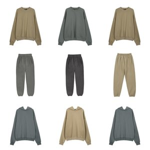 20FW Europeia ESTAÇÃO 6 Suit Hoodie Retro Calças High Street Vintage camisola Moda homens mulheres casal Streetwear da camisola Calças HFXHWY259