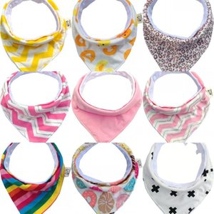 Baby Saliva Towel Pure Handwork Waterproof ChildrenTriangle Towels Double-Deck Snap Fastener Convenient Portable With Various Colors 4sl J1