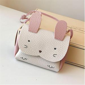 PU bambini di pelle di coniglio Mini Coin Purse Messenger Bag Mini ragazze borsa dei bambini Borsello Carino Piccolo Fresh Crossbody Bag