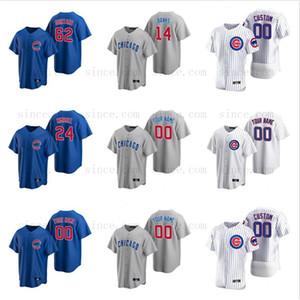 Chicago Cubs personalizado 9 Javier Baez Arrefecer Flex Base de Kris Bryant Jerseys Anthony Rizzo Ryne Sandberg Kyle Schwarber Yu Darvish Baseball Jersey