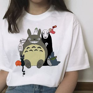 Spirited Away totoro t shirt femme Japanese cartoon tshirt women harajuku Miyazaki Hayao Anime clothes female tops t-shirt