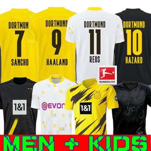 20 21 HAALAND 보루시아 위험 도르트문트 축구 유니폼 2020 2021 축구 셔츠 110 레 우스 정전 산초 BRANDT 남성 + 아이들은 세 번째 타이츠를 KIT