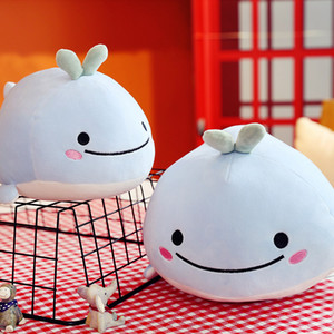 25cm New Lovely Light Blue Cute Dolphin Charms Kids Plush Toys Home Party Pendant Child Gift Home Decoration