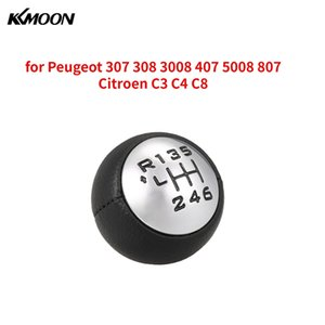 Car Manual 6-Speed Transmission Gear Shift Knob Ball Lever Adapter for Peugeot 307 308 3008 407 5008 807 Citroen C3 C4 C8