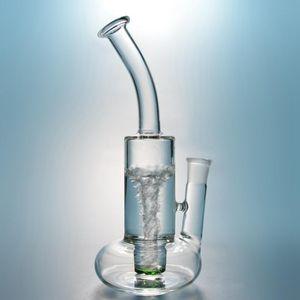Verre Buoy Bong base Bongs épais Pipes eau recycleur huile Rigs unique Bent cou vert barboteur Dab Rig Livraison gratuite