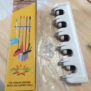 Mop Holder rack Gadgets de cuisine Brosse Balai Rangement Gadgets Ménage Mop Brosse Hanger multifonctions de cuisine Organisateur VT1147