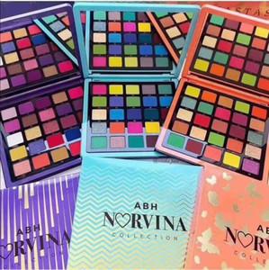 2020 Hot ABH NORVINA Maquillage EYESHADOW palette 25 couleurs Glitter Shimmer Matte Palette Ombre à paupières Violet Orange Bleu 3 Styles cadeau de Noël