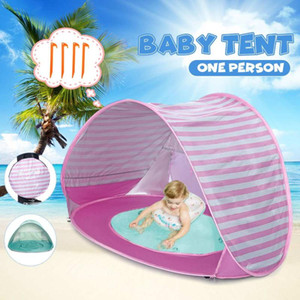 UV-proof Portable Tent Camping Hiking Beach Sun Shelter Infant Baby Kid Children Toy Tent Pool Shelter Water Playing Awning