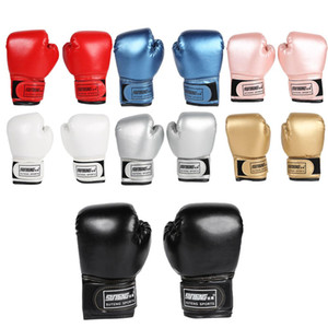2pcs Boxing Training Fighting Gloves PU Leather Kids Breathable Muay Thai Sparring Punching Karate Kickboxing Professional Glove