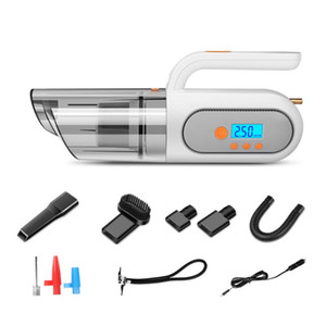 Multifunctional Vehicle-mounted Vacuum Cleaner with Air Pump Tire Pressure Monitoring Lighting Portable Car Vacuum