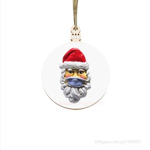 Карантин рождественские украшения 2020 Маска для лица Санта Рождественская елка украшения новой свободной DHL