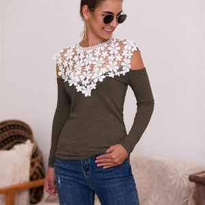 2020 Casual Female Shirt Blessed Feather Print Neck Tees Loog sleeve Ladies Top black 0924