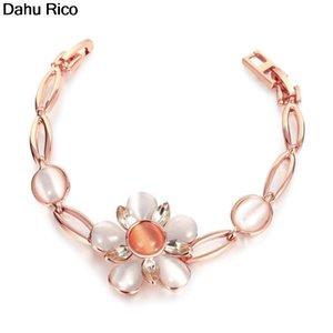Pflanze Armbinde bransoletka Frauen für Mädchen de Piedras Charms dijes weiße Rose Metall chinesischen Markt Online EGI Dahu Rico Armbänder