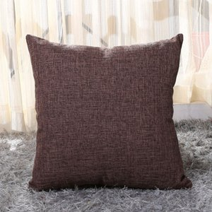 2020 Cotton Linen Pillow Covers Solid Burlap Pillow Case Classical Linen Square Cushion Cover Sofa Decorative Pillows Cases 40cm*40cm