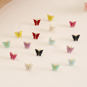 New Fashion Women Butterfly Stud Earrings Animal Sweet Colorful Acrylic Earrings 2020 Statement Girls Party Jewelry