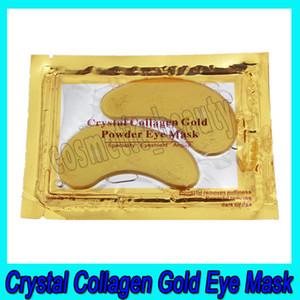 .Crystal Collagen Gold Pó Eye Mask peelings profundos hidratante e rugas suavização Máscara de cristal Collagen Eye