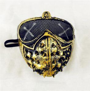Mascarada de Halloween Grim Reaper muerte punk remache Devil máscara máscaras cosplay Bdesport Oyhcg
