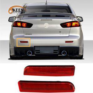 2Pcs для Mitsubishi Lancer EVO X Outlander Sport RVR ASX 2008-2014 бампера Отражатель заднего бампера LED Tail Стоп стоп-сигнал