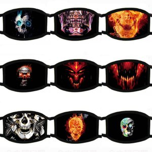 Fa 36 Funny Styles New Cartoon Print Dener Dustproof Ultraviolet-proof Wasale Running Riding Ike Protective Mask Stephanie