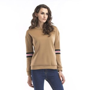 Hot Sale womens designer season long sleeve plus velvet sweater round neck letter embroidered shirt Women