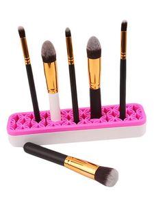 Silicone Makeup Brush Storage Boxs Makeup Brush Holder Rack Brush shelf Cosmetics Tool Kit Storage Case Organizer GGA3709-2