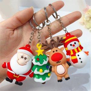 Keychain de Noël Joyeux Noël Décoration Père Noël Bonhomme de neige Elk Keychain Nouvel An Décoration 2021 enfants cadeau IIA632