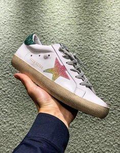 Hot venda- Multicolor Ouro Superstar Gooses Sneakers Homens Mulheres clássica Branca Do-velho sujo Casual sapatos tamanho 35-45