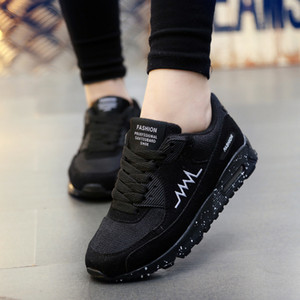 Women Men Outdoor Sports Running Shoes Ultra Light Air Cushion Sneakers Couples Breathable Mesh Athletics Jogging Walking Flats 200922