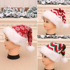 Freies DHL Gestrickte Weihnachten Hut Unisex Erwachsene Neujahr Weihnachten gestreifte Knitting Crochet Hat Cap-Party-Schneeflocke Kopfbedeckung HH9-3275