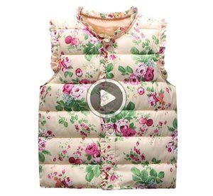 Classique Automne Hiver doux enfants Floral Vestes Manteaux Coton chaud de Gitls Gilet Gilet Gilets Vêtements pour enfants