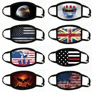 Confédéré Drapeau Face Masque anti-poussière US Battle Battle Southern Drapeau Masques Masques de guerre civile Drapeau WashableCotton Masques de visage # 336